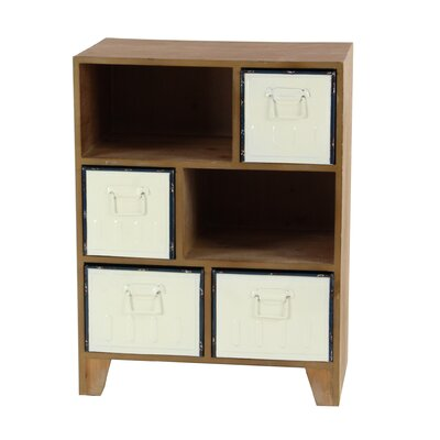 Gebo Rustic Wood 6 Drawer Accent Cabinet