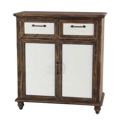 Mcmullin Rustic Wood 2 Drawer Door Accent Cabinet