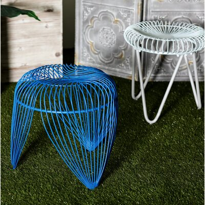 Gillum Contemporary Iron Basket-Inspired Garden Stool