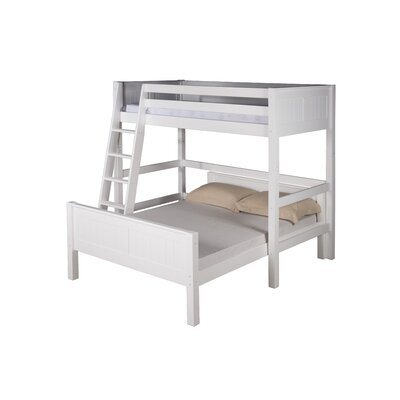 Glessner Twin over Full L Shape Bunk Bed Bed Frame Color: White
