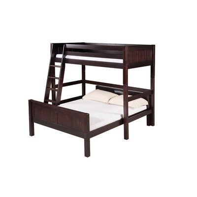 Glessner Twin over Full L Shape Bunk Bed Bed Frame Color: Cappuccino