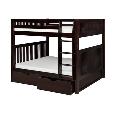 Glickman Full over Full Bunk Bed with Drawers Bed Frame Color: Cappuccino