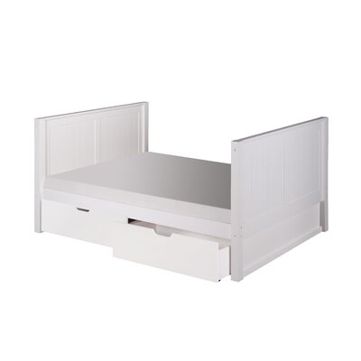 Glade Full Platform Bed with Drawers Bed Frame Color: White