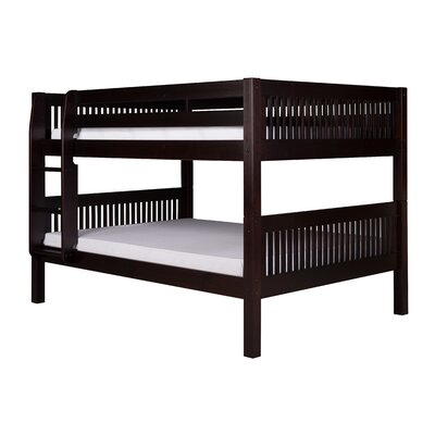 Gettys Full Over Full Bunk Bed Bed Frame Color: Cappuccino