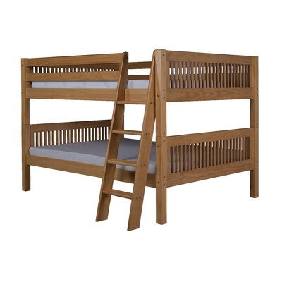 Giambrone Full Over Full Bunk Bed Bed Frame Color: Natural