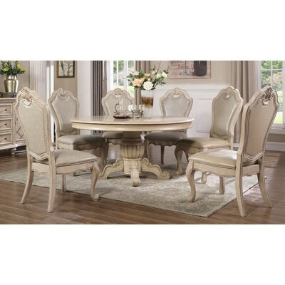 Lowrance 5 Piece Dining Set Color: Ivory