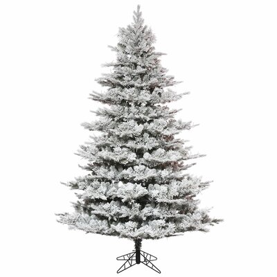 7.5' Flocked Pine Artificial Christmas Tree with Stand