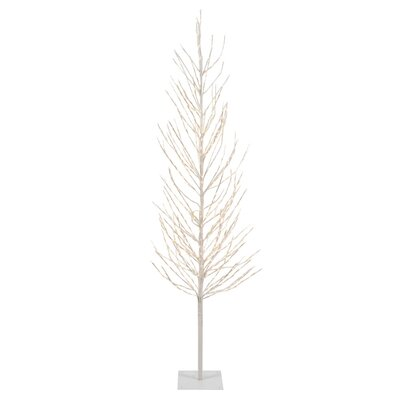 4' White Pine Artificial Christmas Tree with 280 LED Clear/White Lights with Stand