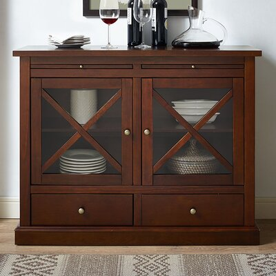 Saito 2 Door Accent Cabinet Color: Mahogany