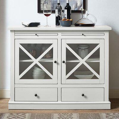 Saito 2 Door Accent Cabinet Color: White