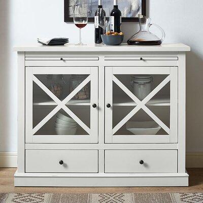 Saito 2 Door Accent Cabinet Color: White