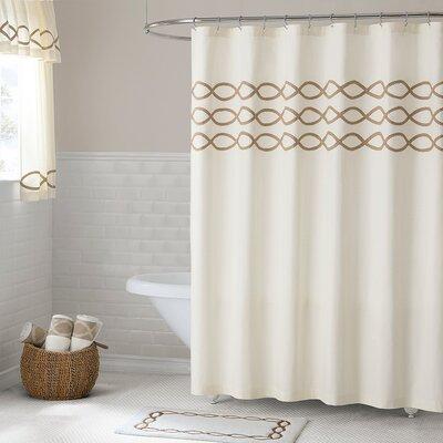 "Gridley Cotton Shower Curtain Size: 72"" H x 72"" W"