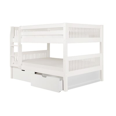 Giancola Full Over Full Bunk Bed with Drawers Bed Frame Color: White