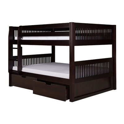 Giancola Full Over Full Bunk Bed with Drawers Bed Frame Color: Cappuccino