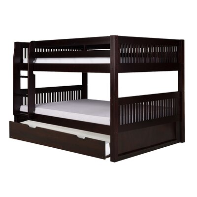 Gidley Full Over Full Bunk Bed with Trundle Bed Frame Color: Cappuccino