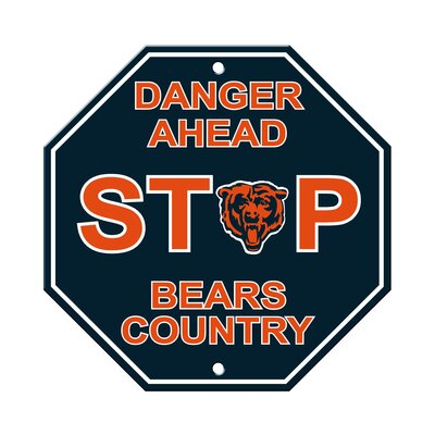 NFL Stop Sign NFL Team: Chicago Bears