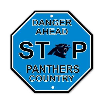 NFL Stop Sign NFL Team: Carolina Panthers