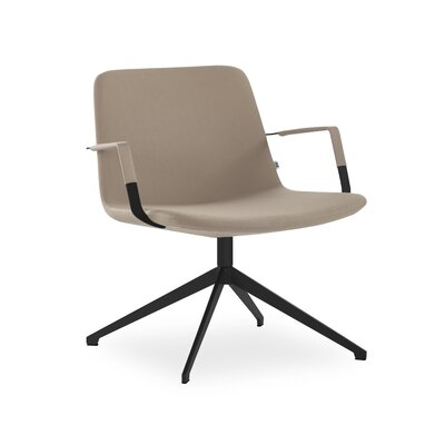 Fechteler Swivel Lounge Chair Seat Color: Cappuccino, Finish: Black