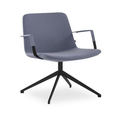 Fechteler Swivel Lounge Chair Seat Color: Graphite, Finish: Black