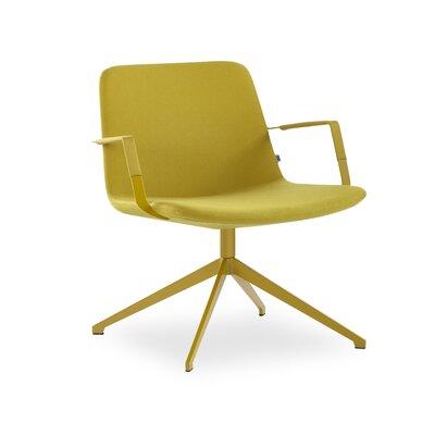 Fechteler Swivel Lounge Chair Seat Color: Mustard, Finish: Mustard
