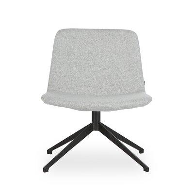 Fechteler Swivel Side Chair Seat Color: Light Gray, Finish: Black