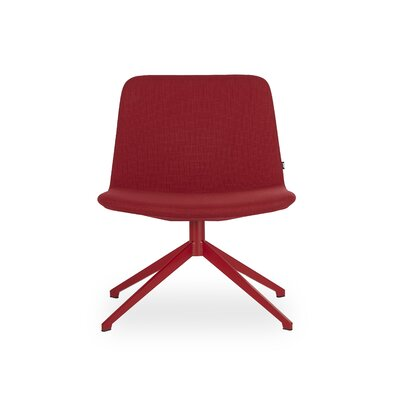 Fechteler Swivel Side Chair Seat Color: Red, Finish: Red