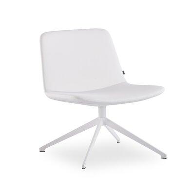 Fechteler Swivel Side Chair Seat Color: White, Finish: White