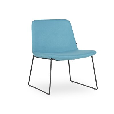 Fechteler Side Chair Seat Color: Turquoise, Finish: Black