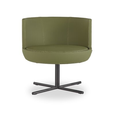 Blagdon Round Lounge Chair Finish: Black, Seat Color: Green