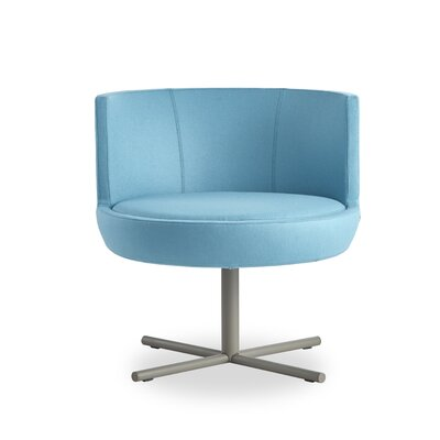 Blagdon Round Lounge Chair Finish: Dove Gray, Seat Color: Turquoise