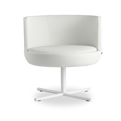 Blagdon Round Lounge Chair Finish: White, Seat Color: White
