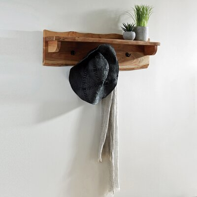 "Bexton Wall Mounted Coat Rack Size: 9"" H x 36"" W x 8"" D"