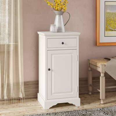 Martine 1 Drawer 1 Door Accent Cabinet Color: White