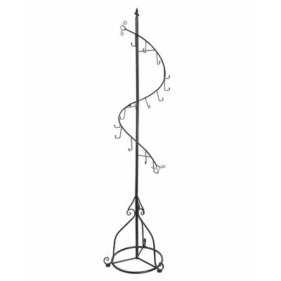 Gillian Freestanding Decorative Coat Rack Color: Black