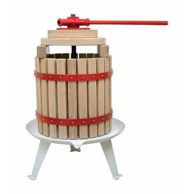 "Solid Wood Basket Fruit Juicer Size: 7.56"" H x 11.5"" W x 12.6"" D"