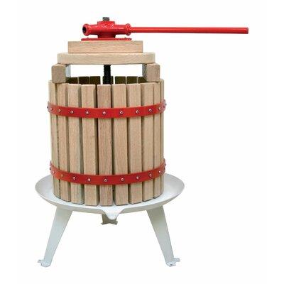 "Solid Wood Basket Fruit Juicer Size: 8.9"" H x 15.31"" W x 15.9"" D"