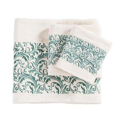 Grave Embroidered Wyatt 3 Piece Towel Set Color: Cream