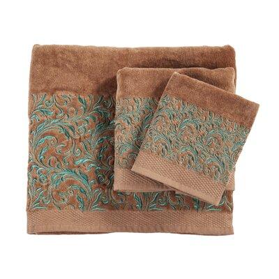 Grave Embroidered Wyatt 3 Piece Towel Set Color: Mocha