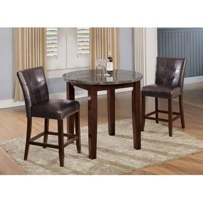 Rothenberg 3 Piece Counter Height Dining Set