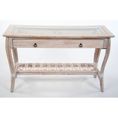 Presley Console Table Color: White Linen