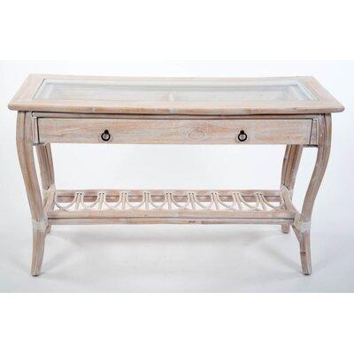 Presley Console Table Color: White Linen