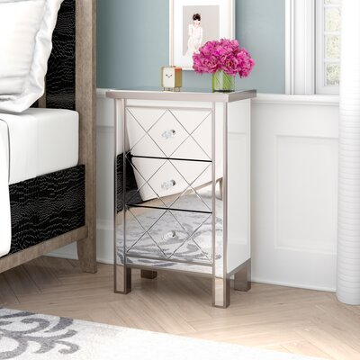 Channelle 3 Drawer Accent Chest Color: Silver