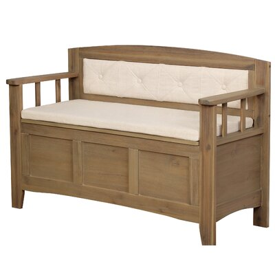 Armina Wood Storage Bench
