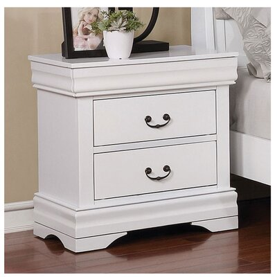 Westminster 2 Drawer Nightstand Color: White