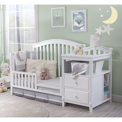Berkley 4-in-1 Convertible Crib and Changer Color: white