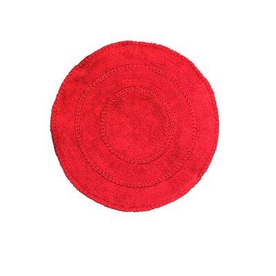 Gadbois Round Bath Rug Color: Red