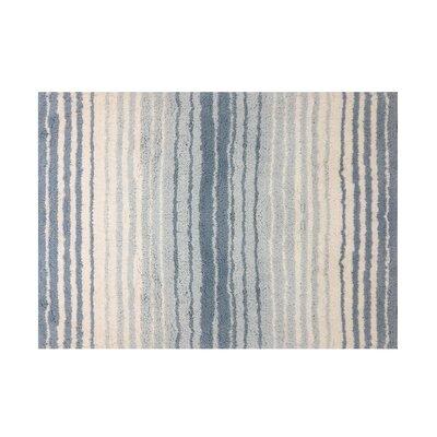 """Griffie Bath Rug Size: 17"""" H x 24"""" W, Color: Blue"""