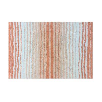 """Griffie Bath Rug Size: 17"""" H x 24"""" W, Color: Coral"""