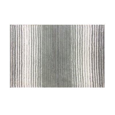 """Griffie Bath Rug Size: 17"""" H x 24"""" W, Color: Gray"""