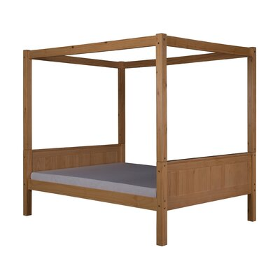Nailwell Full Canopy Bed Bed Frame Color: Natural